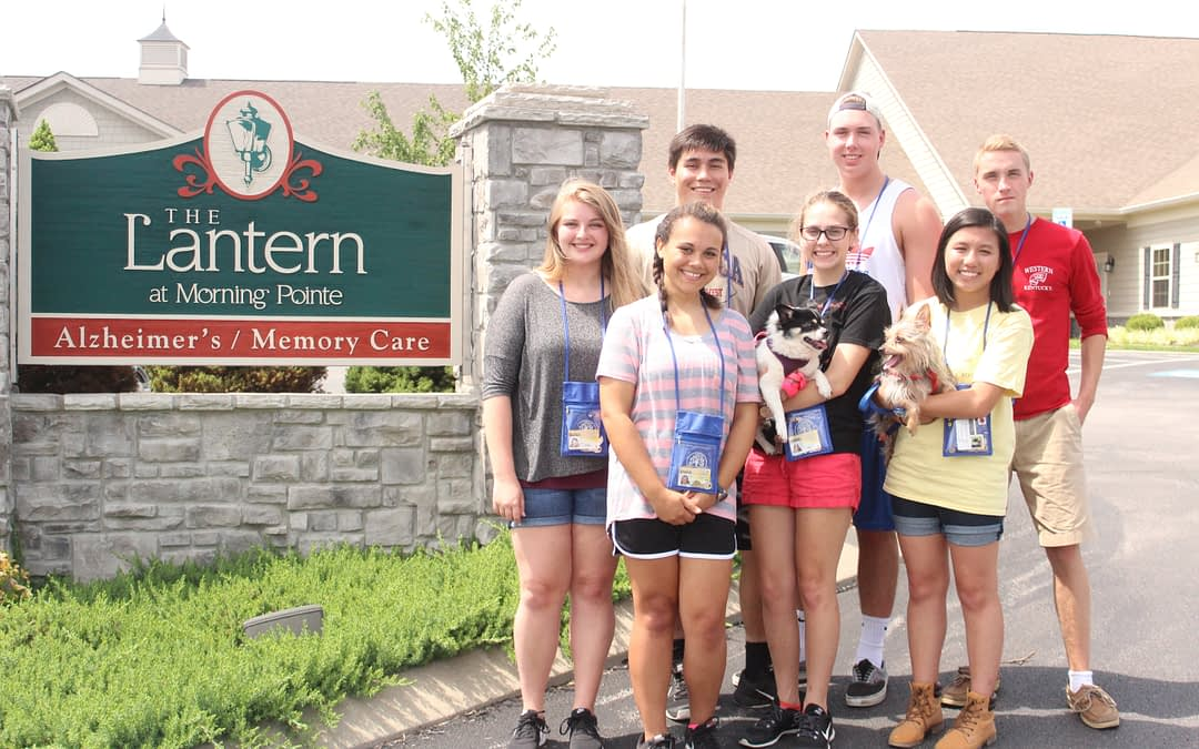 Students Bring Pet Therapy to Morning Pointe Seniors