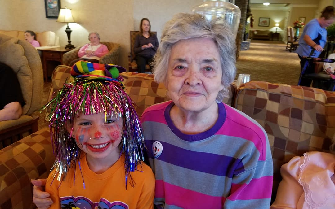Morning Pointe Gets Silly with Tellico Village Clowns