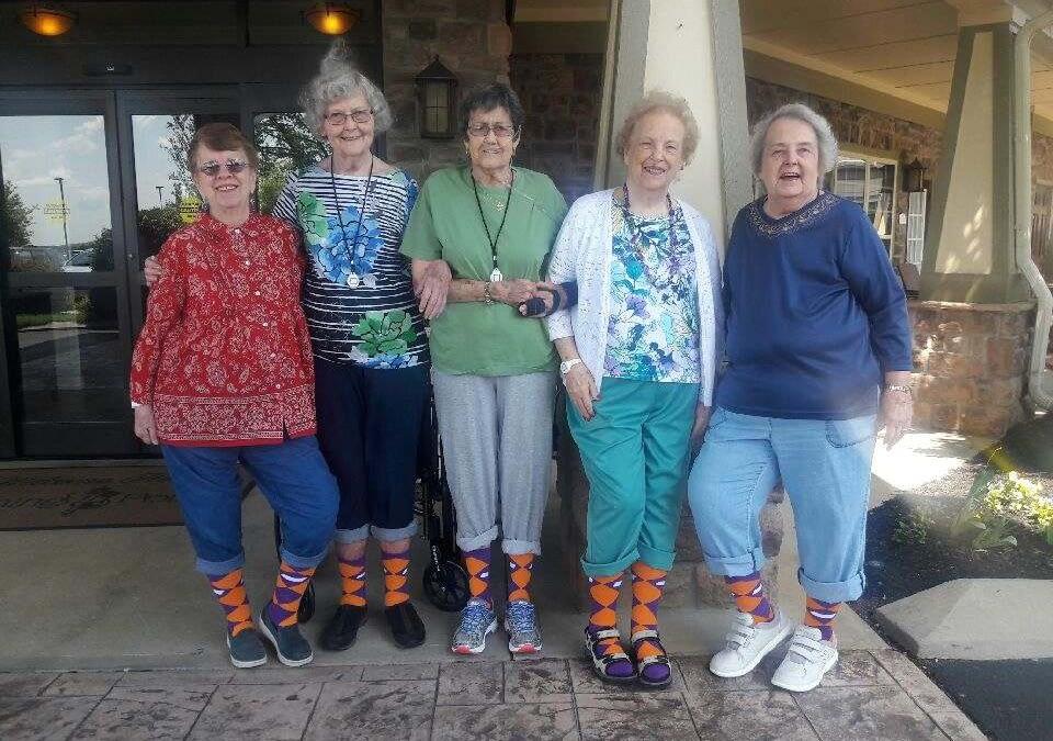 """Morning Pointe Seniors Support """"Sock Out Alzheimer's"""""""