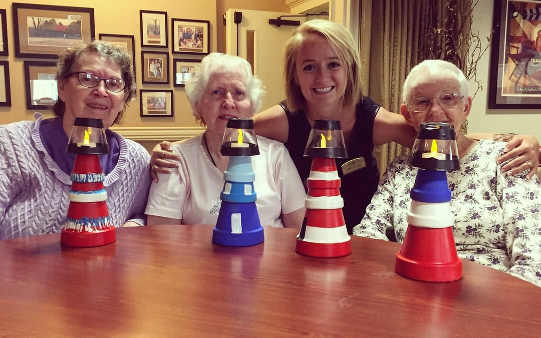 Morning Pointe Lights Creative Spirits for 'National Lighthouse Day'