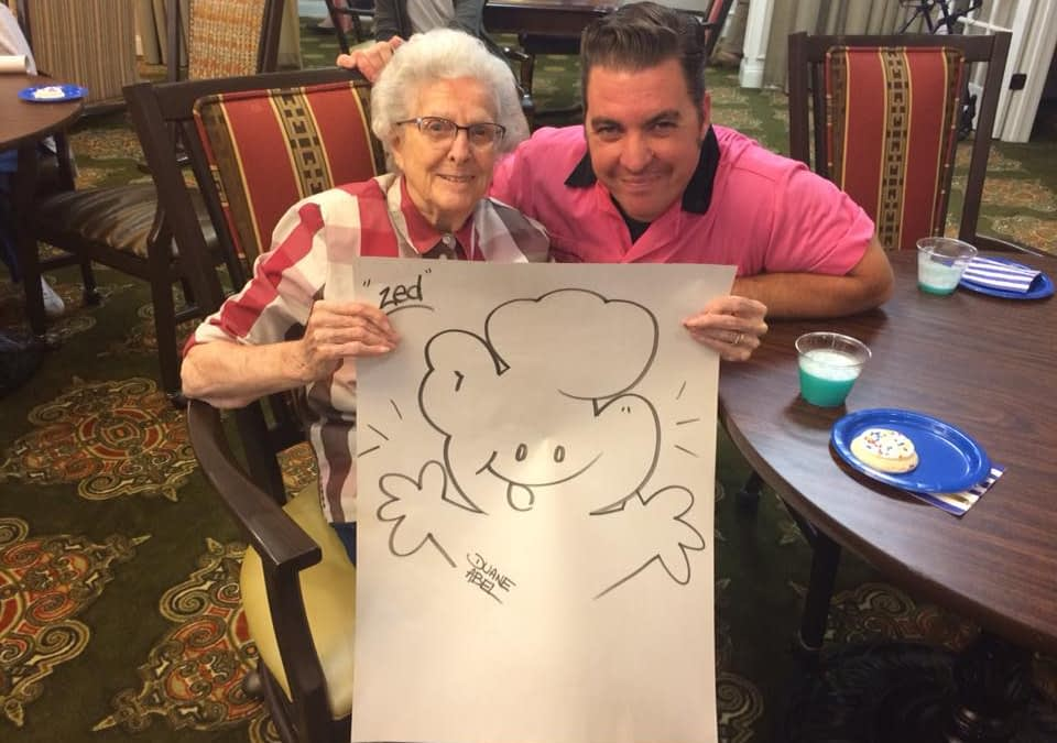 Morning Pointe Seniors Embrace Storytelling with Cartoonist