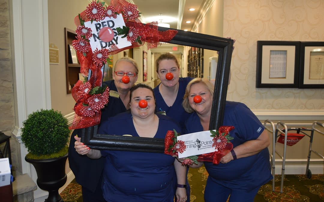 "Morning Pointe Residents Rally for ""Red Nose Day"""