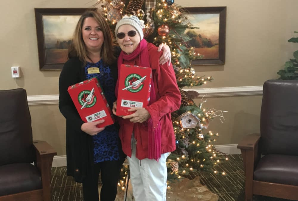 Morning Pointe Participates in Operation Christmas Child