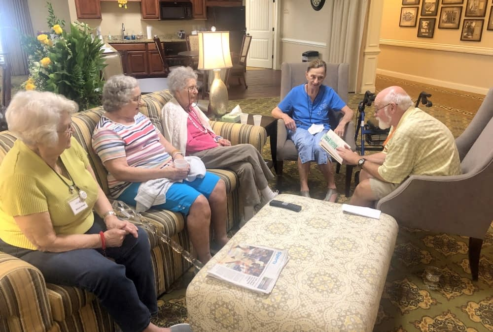 Volunteer Shares Love of Reading with Morning Pointe Residents