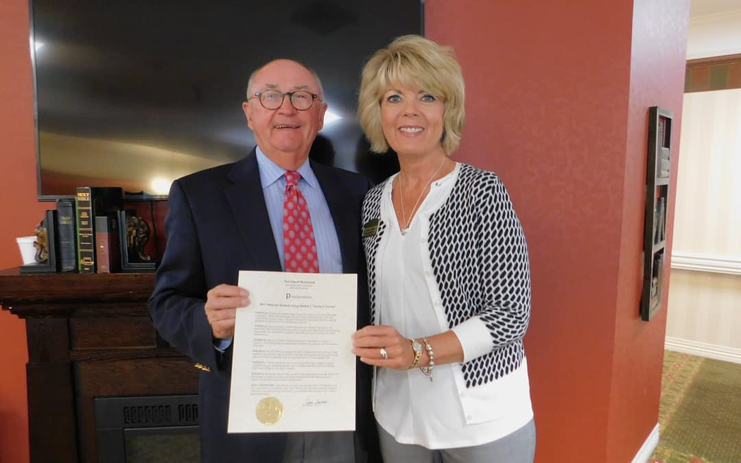 "Richmond Mayor Proclaims ""Resident Appreciation Week"" at Morning Pointe"