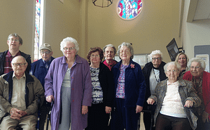 Residents at Morning Pointe of Richmond attend a Community Holy Week Service.
