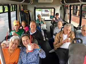 "Morning Pointe Residents Take Scenic Drive Through Powell Recently, the residents of Morning Pointe of Powell (TN) took a scenic drive, admiring the sights and sounds of Powell—and indulging in some delicious chocolate milkshakes from Arby's along the way! Scenic drives are just one of the many life enrichment activities in which the residents of Morning Pointe of Powell can participate. The activity and social calendar at Morning Pointe senior living communities is not just about staying busy, it's about creating purposeful days. Our programming focuses on connecting residents to activities they have enjoyed while exposing them to new possibilities. Just about every week, you can find a group of Morning Pointe residents out and about exploring the greater city they live in. ""Morning Pointe of Powell Lantern residents love to take scenic drives!"" says Michele Krohn, the Life Enrichment Director at Morning Pointe of Powell. To learn more about the many life enrichment opportunities offered at Morning Pointe senior living communities, visit https://morningpointe.com/life-enrichment/."