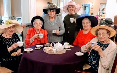 Morning Pointe Welcomes Community for Annual Tea Party