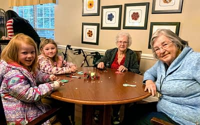 Local Pre-K Students Volunteer at Morning Pointe