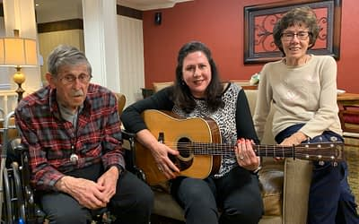 Former Music Professor Performs for Morning Pointe Residents