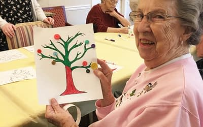 Roane State Students Lead Art Project at Morning Pointe