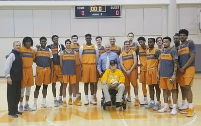UT Men's Basketball Team Fulfills Morning Pointe Resident's Birthday Wish