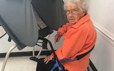 Centenarian Casts Vote During General Election