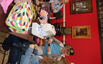 FCA Volunteer, Morning Pointe Residents Connect to the Past through Sewing