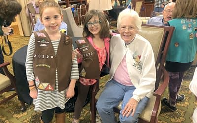Girl Scout Adoption Ceremony