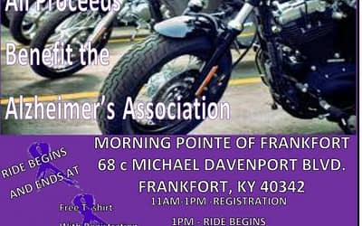Ride to Remember to Benefit the Alzheimer's Association in Frankfort, KY