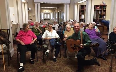 Acoustic Guitarist Performs Classics at Morning Pointe