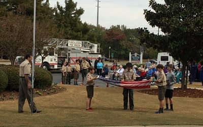 Morning Pointe Veterans Honored During Flag Retirement Ceremony