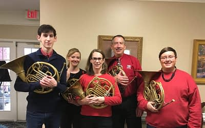 Univ. of Alabama French Horn Quartet Brings Best of Brass to Morning Pointe